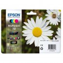 Epson 18 / T1806 / C13T18064010 Rainbow Set + Black...